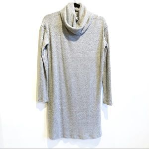 Gap Grey Ribbed Turtleneck Sweater Dress